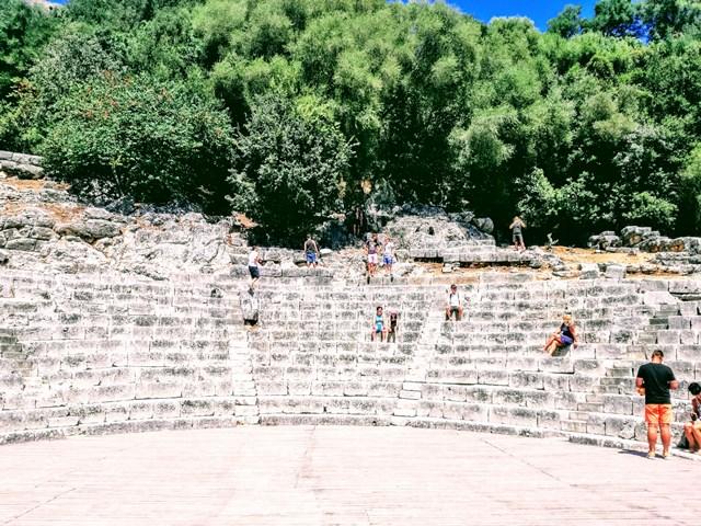teatro romano scavi di butrinto